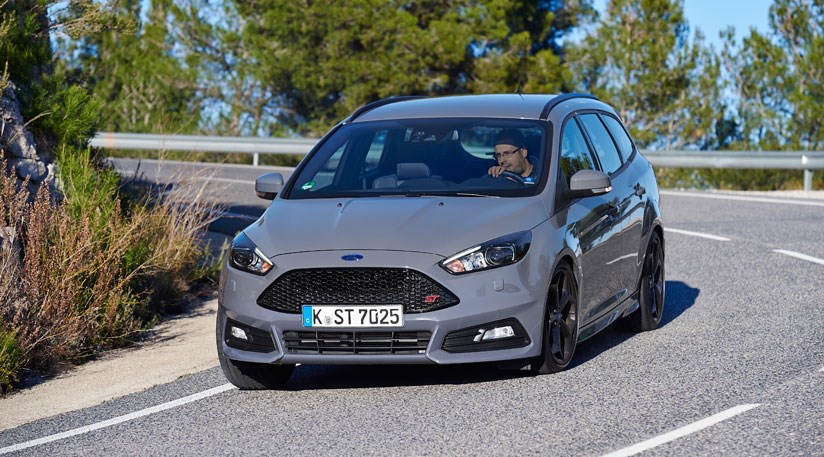 grey is a new paint option and big wheels and centre exhausts apart turns the ford focus st wagon into something of a sleeper