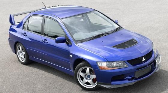 advertisement - Mitsubishi Evo 9 Blue