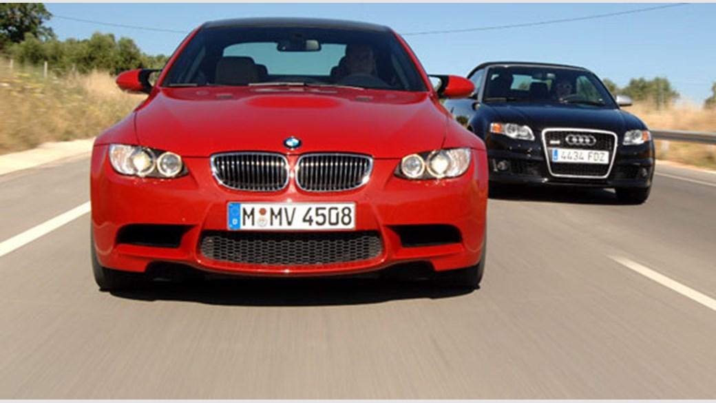 BMW M3 coupe (2007) vs Audi RS4 (2007) cabrio review | CAR Magazine