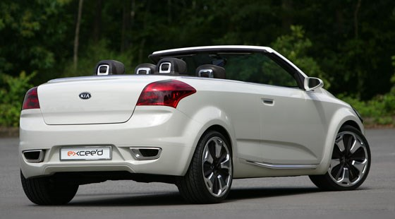 kia exceed cabrio 2007 concept review by car magazine. Black Bedroom Furniture Sets. Home Design Ideas