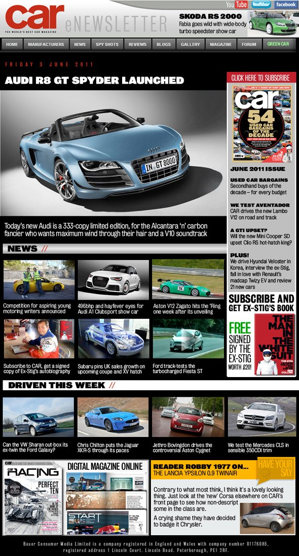 CAR Magazine newsletter - click here to sign up