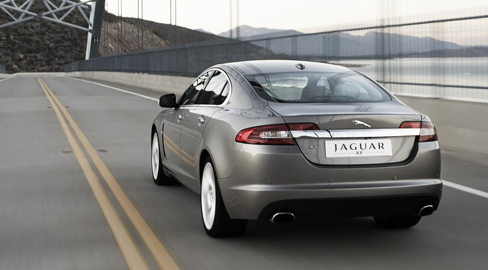 Jaguar xf sv8 2007 review car magazine jaguar xf sv8 rear three quarter publicscrutiny Image collections