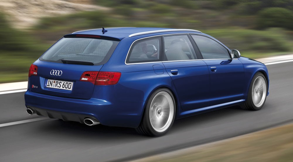 Audi rs6 avant 2008 review by car magazine audi rs6 avant rear three quarter sciox Choice Image