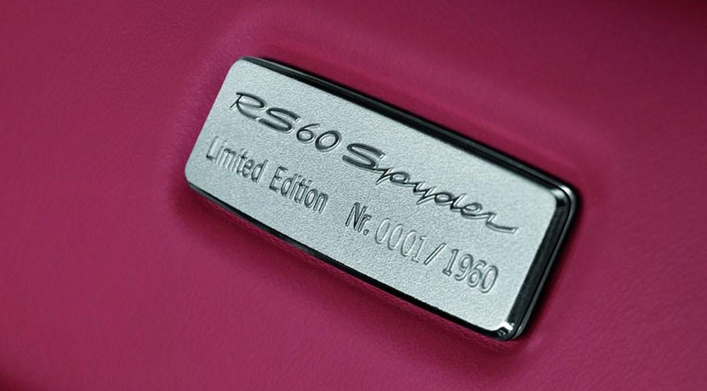 Porsche boxster rs 60 spyder 2008 review by car magazine for Porte badge 60 x 90