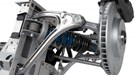 Lotus Eagle's front suspension has forged aluminium wishbones, Eibach springs and Bilstein dampers