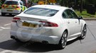 Jaguar XF-R spyshots: rear three-quarter picture