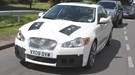Jaguar XF-R spyshots: front three-quarter picture