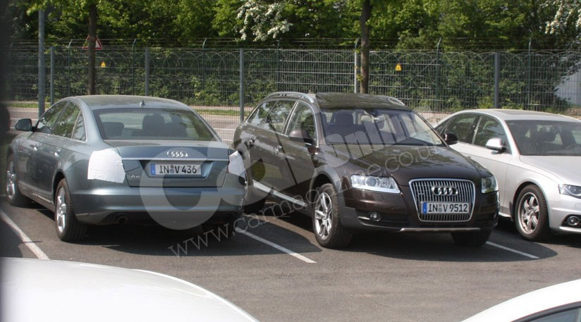 Audi A6 facelift and RS6 saloon spy photos